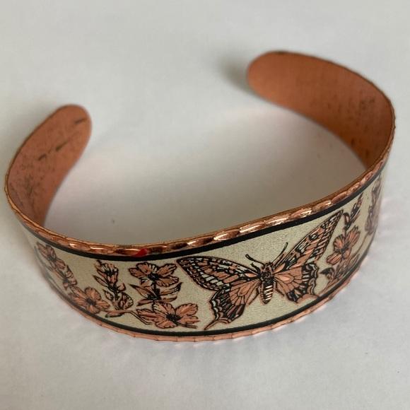 Vintage Copper Colored Boho Butterfly Bracelet